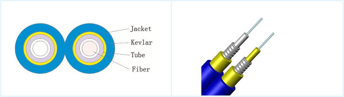 Simplex Spiral Armored Fiber Optic Cable